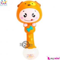 جغجغه موزیکال و چراغدار هویلی تویز سگ Huile Toys zodiac dynamic rhythm sticks