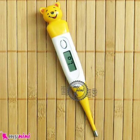 تب سنج دیجیتالی عروسکی نوزاد و کودک خرس Cartoon animal baby digital thermometer