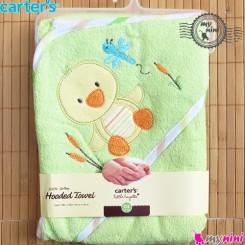 حوله کلاه دار کارترز نوزاد و کودک سبز اردک Carter's hooded towel