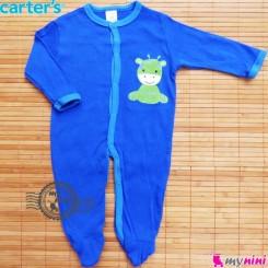 سرهمی کارترز پنبه ای آبی زرافه Carter's baby bodysuit