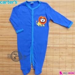 سرهمی کارترز پنبه ای آبی شیر Carter's baby bodysuit