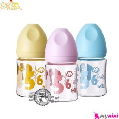 شیشه شیر شبیه سینه مادر پیرکس ریکانگ کوچک Rikang wide mouse glass bottle