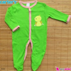 سرهمی کارترز پنبه ای سبز اردک Carter's baby bodysuit