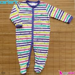 سرهمی کارترز پنبه ای راه راه رنگی 6 ماه Carter's baby bodysuit
