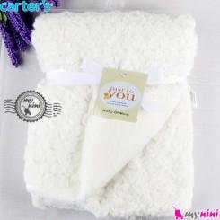 پتو کارترز گل رز دو لایه سفید Carter's baby fleece blanket