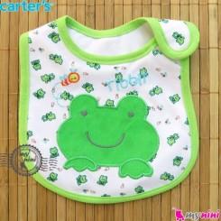 پیشبند کارترز پنبه ای سبز قورباغه Carters baby cotton bib
