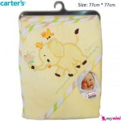 حوله کلاه دار نوزاد و کودک فیل کارترز Carter's Towel