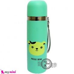 فلاسک استیل سبز حیوانات Baby thermos flask