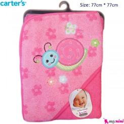 حوله کلاه دار نوزاد و کودک حلزون کارترز Carter's Towel