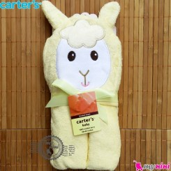 حوله کلاه دار کارترز نوزاد و کودک لیمویی گوسفند Carter's hooded towel