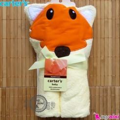 حوله کلاه دار کارترز نوزاد و کودک لیمویی روباه Carter's hooded towel