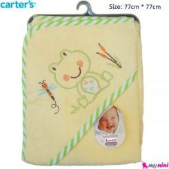 حوله کلاه دار نوزاد و کودک قورباغه کارترز Carter's Towel