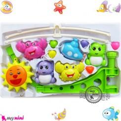 آویز تخت نوزاد موزیکال خورشید و هشت پا Baby harmonious music mobile