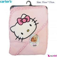 حوله کلاه دار نوزاد و کودک کیتی کارترز Carter's Towel