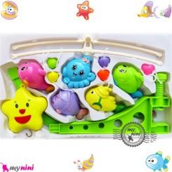 آویز تخت نوزاد موزیکال ستاره و هشت پا Baby harmonious music mobile