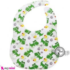 پیشبند ضد لک جوجه و کروکودیل Baby cartoon waterproof bibs