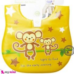 پیشبند ضد لک میمون Baby cartoon waterproof bibs