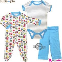ست لباس پنبه ای 3 تکه ماشین Cutie Pie baby clothes