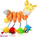 عروسک آویز نوزاد و کودک پولیشی موزیکال زرافه baby activity spiral plush toy