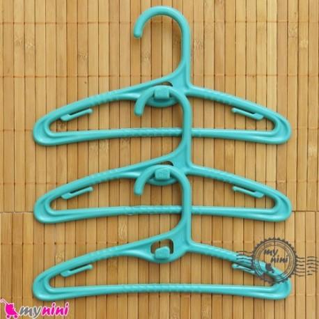 چوب لباسی کم جا و آپارتمانی سبزآبی کودکان baby clothes hanger