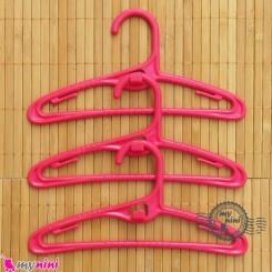 چوب لباسی کم جا و آپارتمانی سرخابی کودکان baby clothes hanger
