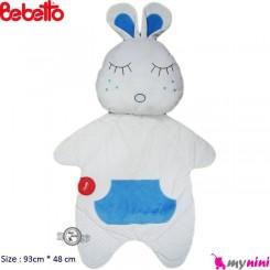 تشک و بالش مخمل خرگوش آبی ببتو Bebetto