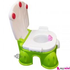 توالت فرنگی سه کاره سبز بهمراه تبدیل توالت فرنگی تاتیا Tatia Potty
