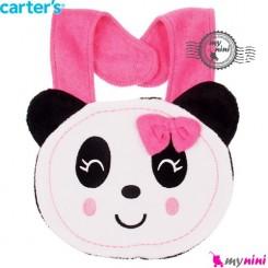 پیشبند کارترز عروسکی پاندا دختر Carter's baby animal bibs