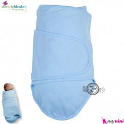 قنداق پنبه ای نوزاد میراکل آبی Miracle Blanket