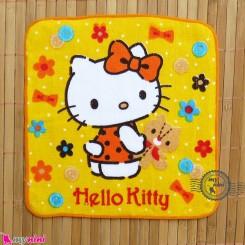 حوله دست نوزاد و کودک زرد کیتی Baby washcloths