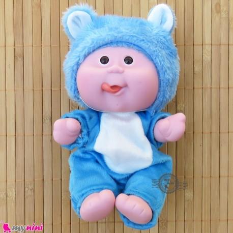 عروسک بامزه موزیکال و چراغدار آبی خرس Baby cute doll