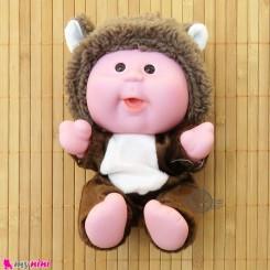 عروسک بامزه موزیکال و چراغدار خرس قهوه ای Baby cute doll