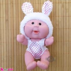 عروسک بامزه موزیکال و چراغدار خرگوش سفید Baby cute doll
