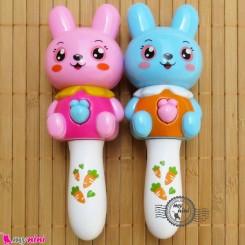 خرگوش جغجغه ای موزیکال و چراغدار Baby rattles and flash toy's