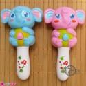 فیل جغجغه ای موزیکال و چراغدار Baby rattles and flash toy's