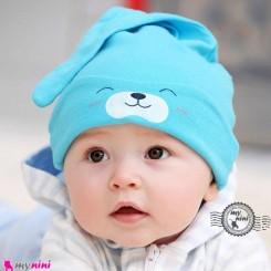 کلاه کشی وروجکی 2 حالته نوزاد و کودک baby cotton hat