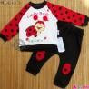 ست بلوز شلوار کفشدوزکی پنبه ای نسیکسِز ترکیه Necix's ladybug baby clothes set