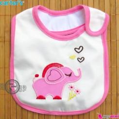 پیشبند کارترز 3 لایه نوزاد و کودک قلب و فیل Carters baby cute bib