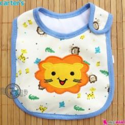 پیشبند کارترز 3 لایه نوزاد و کودک آبی شیر Carters baby cute bib