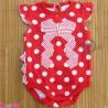 لباس زیردکمه دار پنبه ای قرمز طرحدار baby bodysuits