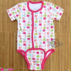 آستین کوتاه زیردکمه دار پنبه ای مگنتی 6 تا 9 ماه magnificent baby bodysuits