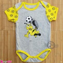 آستین کوتاه زیردکمه دار پنبه ای مارک بورسیا دورتموند 12 تا 18 ماه baby bodysuits