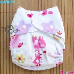 شورت آموزشی 3 لایه کارترز صورتی فیل و زرافه carters baby reusable diaper