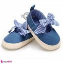کفش نوزاد و کودک دخترانه پاپیون رنگ آبی Baby girl footwear