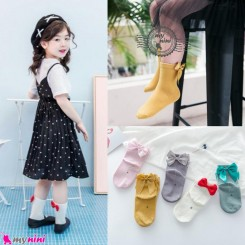جوراب نخی دخترانه پرنسس 1 تا 3 سال princess style socks