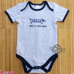 آستین کوتاه زیردکمه دار پنبه ای مارک بیسیک فور بیبی basic for baby bodysuits