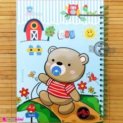 نی نی نامه خاطرات نوزاد و کودک پسر خرس کوچولو Notes to baby