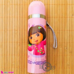 فلاسک استیل بنددار کارتونی دُرا صورتی Dora Baby FLask