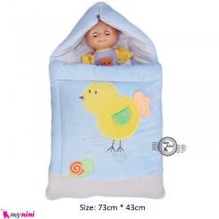 کیسه خواب مخمل آبی جوجه Baby Sleeping Bag