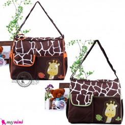ساک لوازم نوزاد زرافه 2 تکه Baby diaper bag giraffe